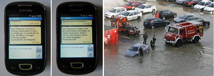Servicio de avisos por SMS de Pamplona