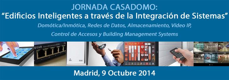 """Jornada Casadomo """"Edificios Inteligentes a través de la Integración de Sistemas""""."""