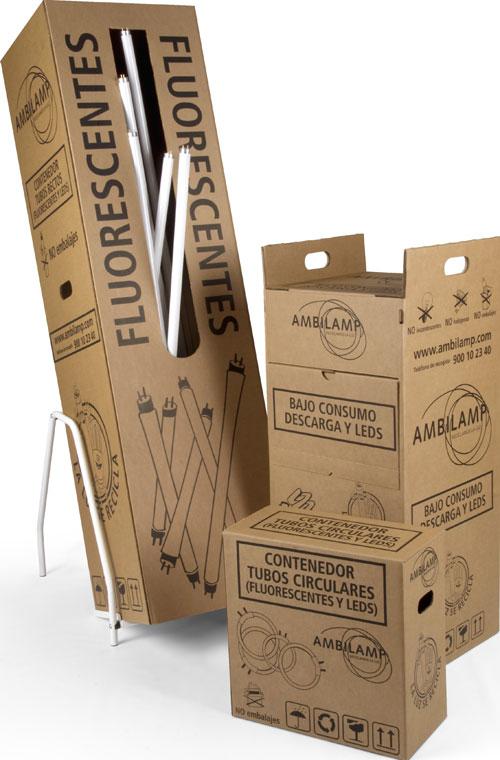 Contenedores pequeños de cartón, AMBILAMP