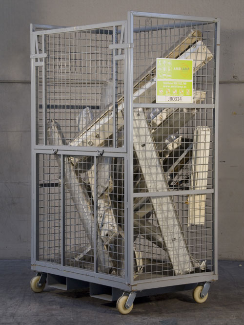 Jaulas para reciclaje de AMBILAMP