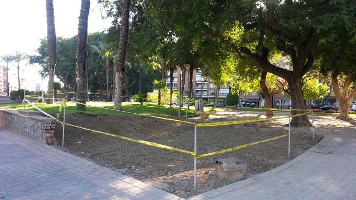 Obras para la instalación de aparcaBicis inteligente en Murcia