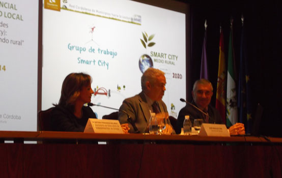 Foto de la I Parte en la presentación de la Estrategia Smart City Rural de la Diputación de Córdoba y Visiones del Observatorio de Sostenibilidad de la Provincia.