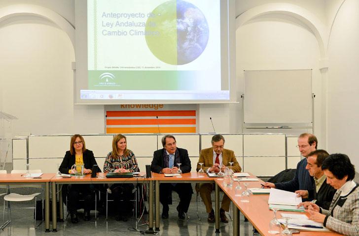 Presentación de la Ley de Cambio Climático en Andalucía