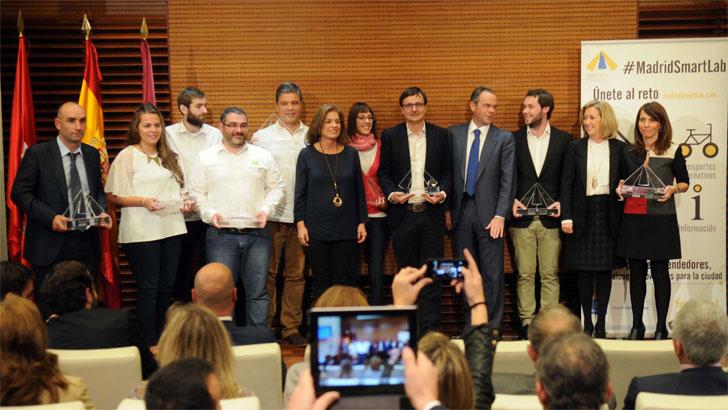 Ganadores de Madrid Smart Lab durante la presentación de los proyectos.