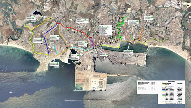 Red ciclista de Algeciras