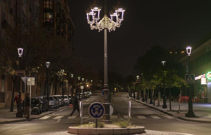Iluminación de Philips en Villaverde (Madrid)