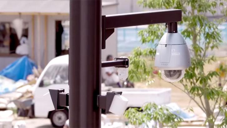 Cámara de vigilancia en Fujisawa SST