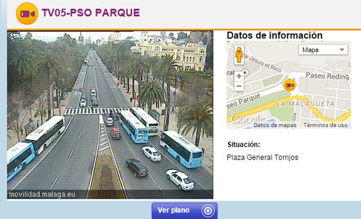 Cámara de movilidad de Málaga