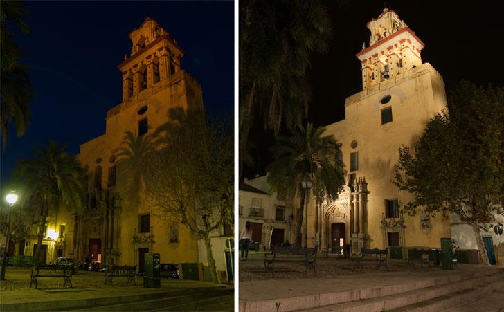 Antes y después de la Iglesia de San Agustín.