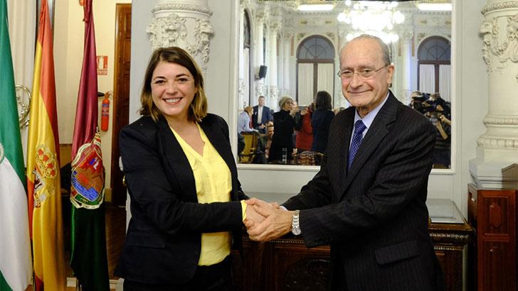 Elena Cortés, Consejera de Fomento y Vivienda y Francisco de la Torre, Alcalde de Málaga.