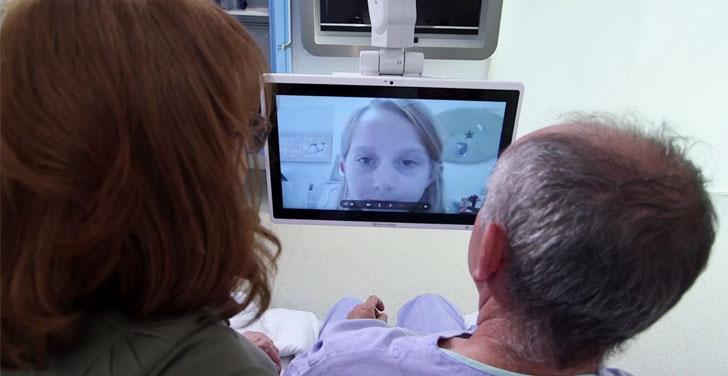Vídeoconferencia en el hospital