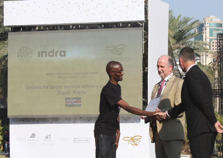 """Ganador del concurso """"De la idea a la realidad"""" de Indra, Drones for Good""""."""