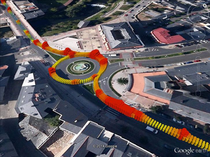 Mapa del nivel lumínico en vías y calles