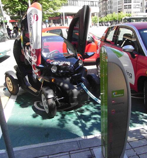 Vehículo eléctrico en Pamplona