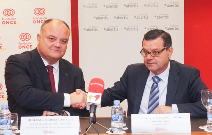 Firma entre Fundación Abertis y ONCE