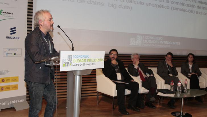 Xavier Cipriano de CIMNE-UPC, en el I Congreso Ciudades Inteligentes