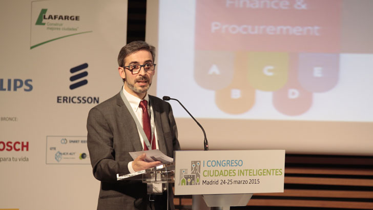 Juan Cristobal García, Market Place Smart Cities and Communities, en el I Congreso Ciudades Inteligentes