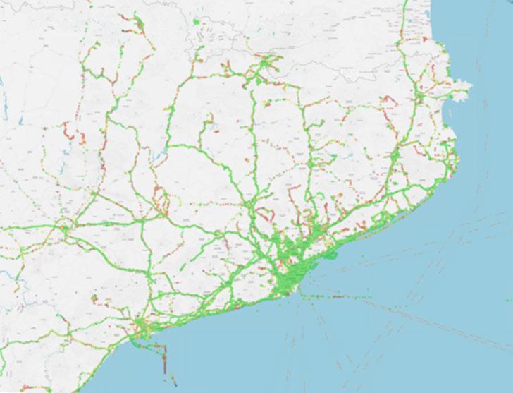 Mapa parcial de actividades (detalle).