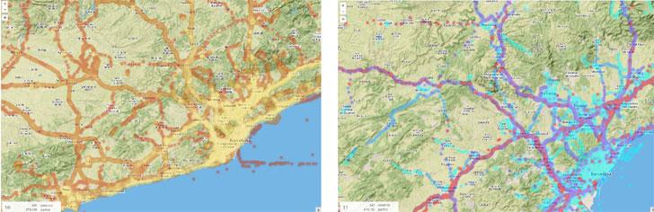 Mapa Velocidad y Figura 8. Mapa de densidad.