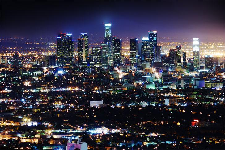 Los Ángeles iluminado