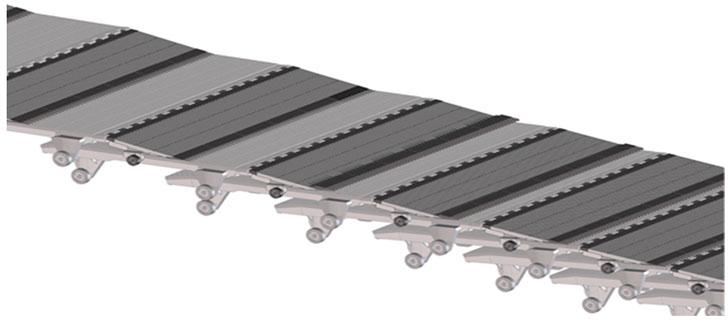 Placas solapables de aluminio.