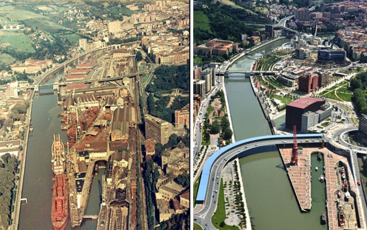 Ejemplo de transformación de la ciudad, con el Museo Guggenheim (1997) como principal exponente.