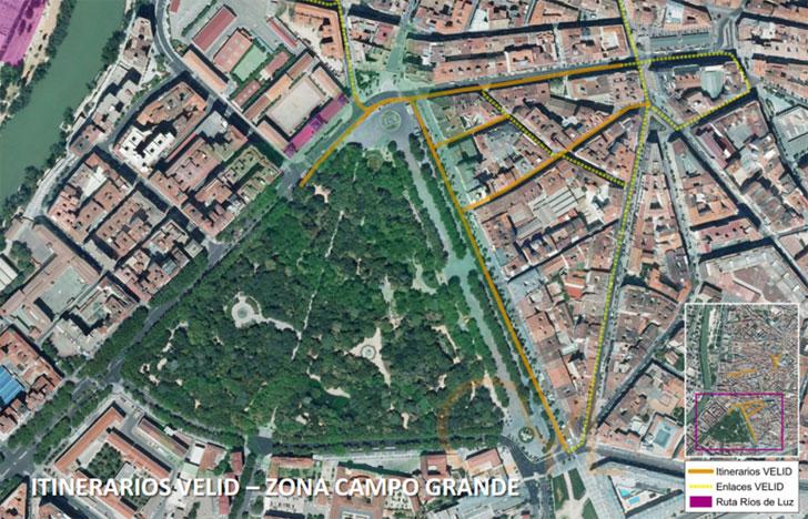 Itinerarios VELID (Vehículo Eléctrico de Limitadas Dimensiones) en Valladolid.