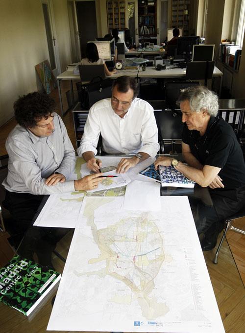 José María Ezquiaga con Juan Herreros y Salvador Pérez, Proyecto Madrid Centro
