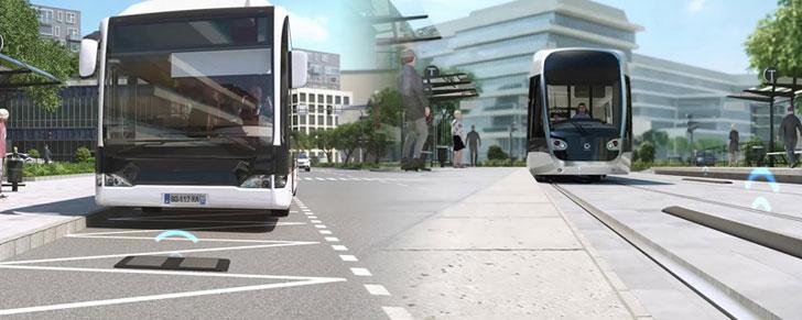 Tranvia y autobús eléctricos