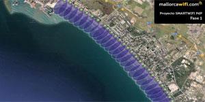 Infraestructura Smart Wifi playa de Palma