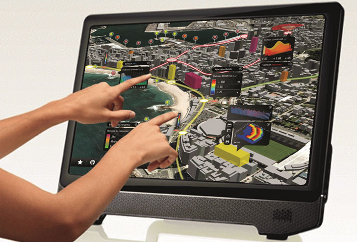 Muestra de visualización con la tecnología eVidens. ILUX Visual Technologies 2015.