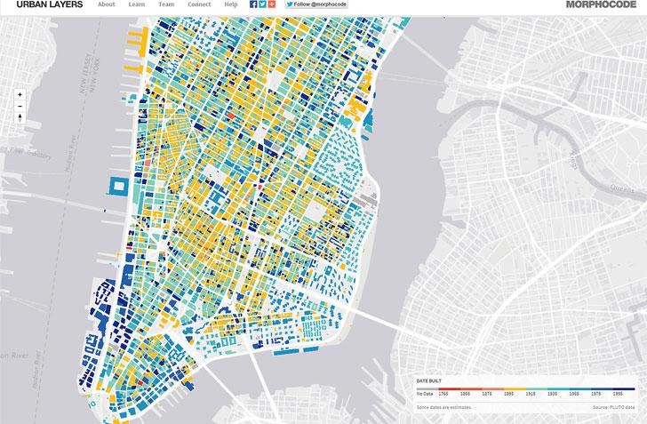 Manhattan visto con Urban layers