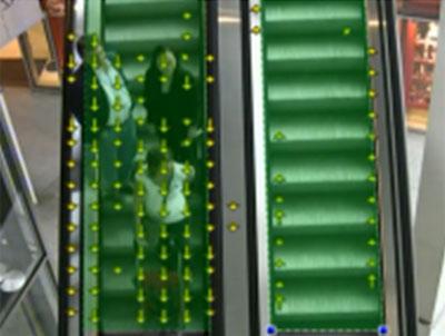 Análisis de flujos en el tránsito de personas (escalera mecánica) con el software de análisis de contenidos de vídeo.