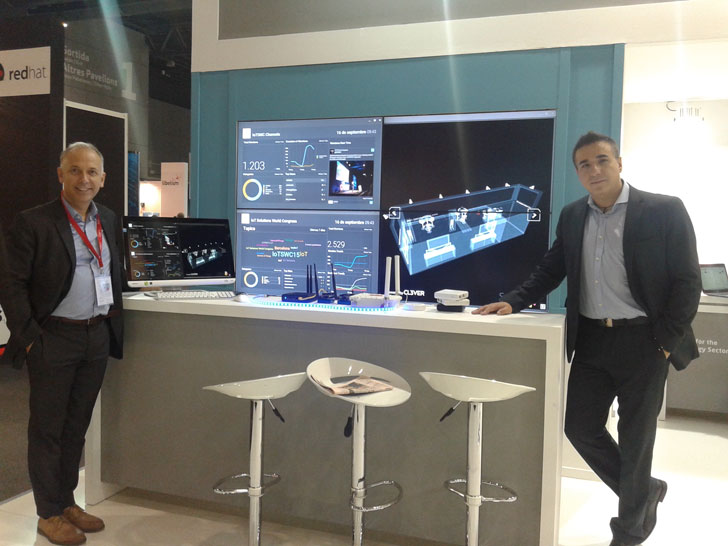 Stand de Indra en el IoT World Congress de Barcelona