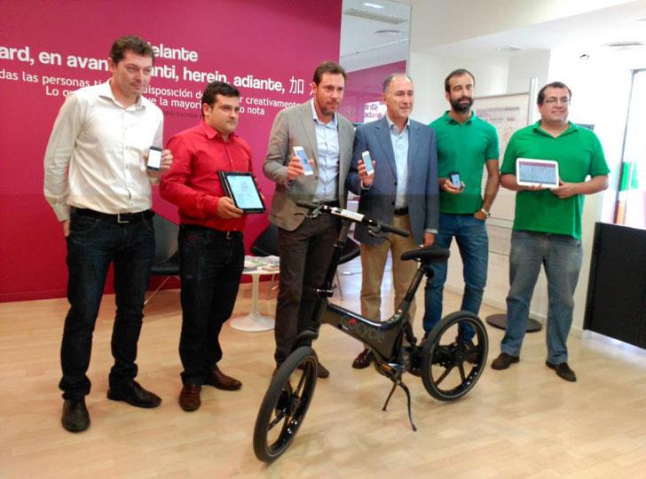Presentación en Valladolid de la app Bicimetro
