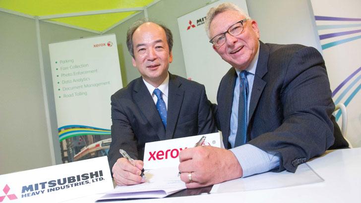 Firma entre Xerox y Mitsubishi