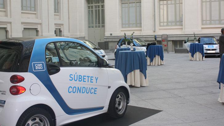 Exposición de car2go en el Palacio de Cibeles