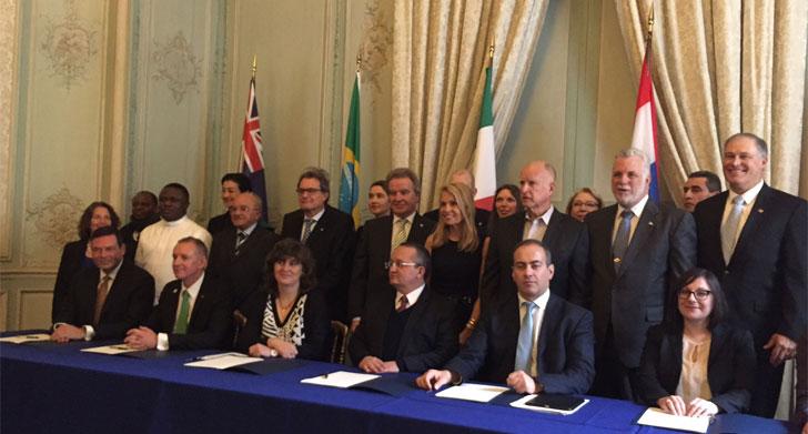 Firmantes del Acuerdo Under2Mou