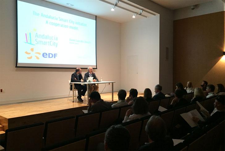 Clúster Andalucía Smart City recibe la visita de una delegación francesa