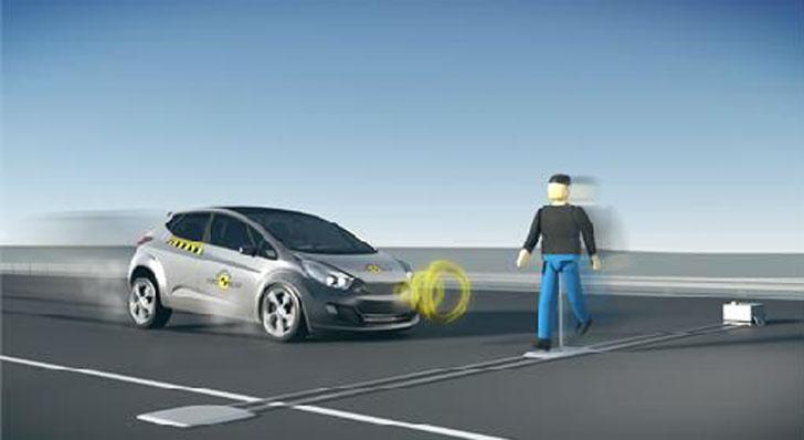 Euro NCAP, pruebas de sistemas de frenada de emergencia automática