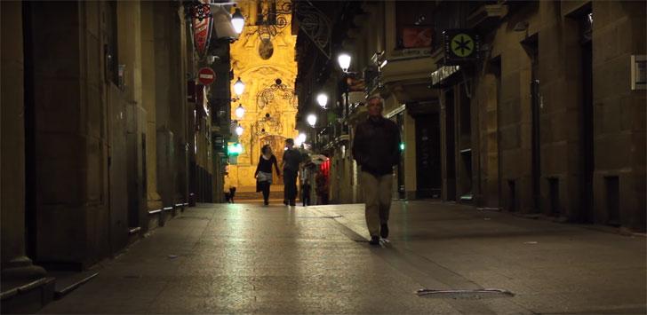 Calle Mayor de San Sebastián con alumbrado público inteligente