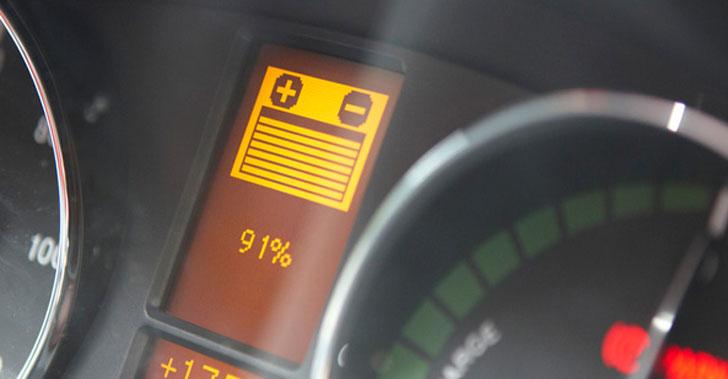 Indicador de carga de un vehículo eléctrico