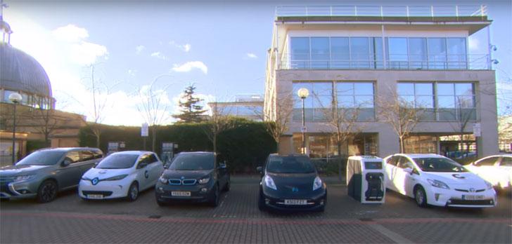 Aparcamientos ocupados por vehículos eléctricos
