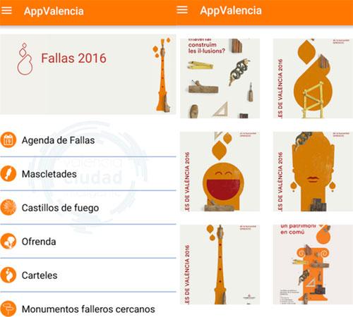 Aplicación del Ayuntamiento de Valencia para las fallas