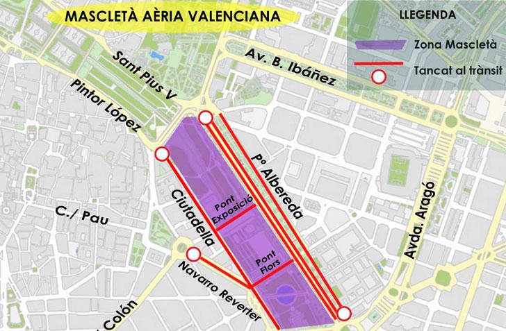 Mapa digital con información sobre La Mascletá