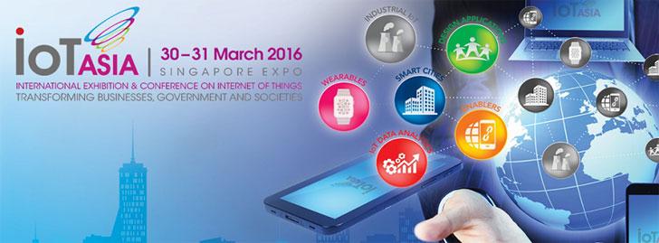 Infografía y logotipo de la conferencia de Internet de las cosas Asia 2016