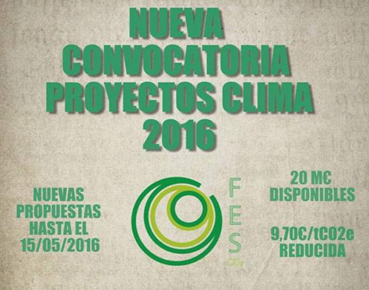Logo de la Convocatoria Proyectos Clima del MAGRAMA