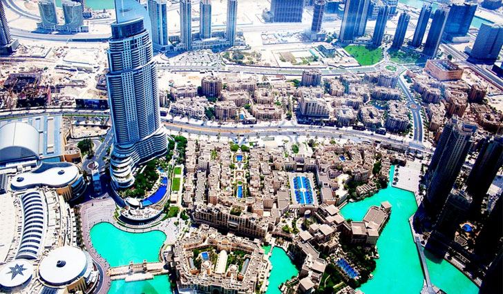 Imagen aérea de Dubai