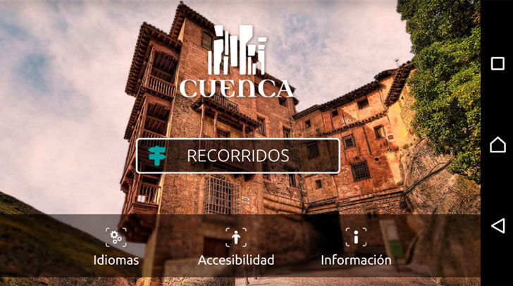 Captura de pantalla de la aplicación turística de Cuenca