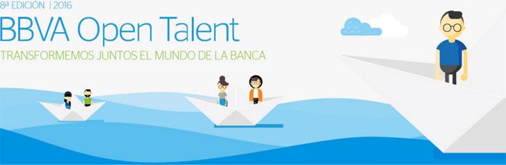Logotipo de la convocatoria BBVA Open Talent 2016